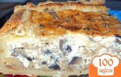 Фото рецепта: «Пирог с грибами заливной»
