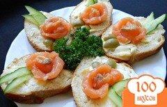 Фото рецепта: «Маленькие бутерброды с семгой»