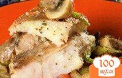 Фото рецепта: «Рыба, тушеная с грибами»