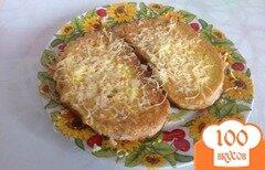 Фото рецепта: «Гренки с яйцом и сыром»