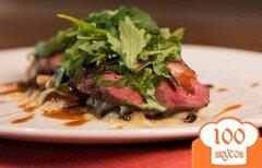 Фото рецепта: «Утка с вешенками и сырным соусом»
