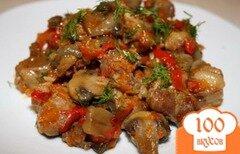 Фото рецепта: «Грибы с овощами в мультиварке»