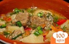 Фото рецепта: «Жаркое из говядины в горшочках»