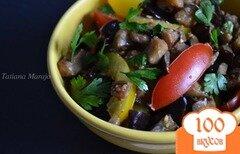 Фото рецепта: «Теплый салат из помидор с баклажанами»