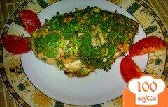 Фото рецепта: «Куриное филе в зеленой шубке»