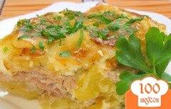 Фото рецепта: «Мясо под майонезом в духовке»