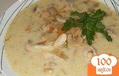 Фото рецепта: «Суп с грибами и сыром»