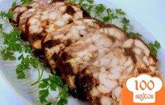 Фото рецепта: «Куриный рулет с инжиром»