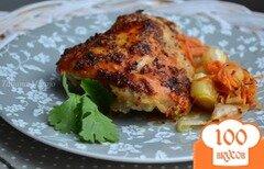 Фото рецепта: «Куриные бедрышки под медово-горчичной корочкой»