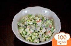 Фото рецепта: «Салат с маринованными грибами»
