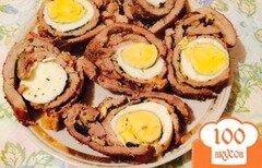 Фото рецепта: «Рулет из свинины с яйцом»