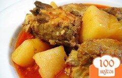 Фото рецепта: «Картошка со свиными ребрышками»
