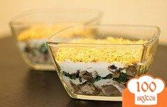Фото рецепта: «Салат с курицей и грибами»