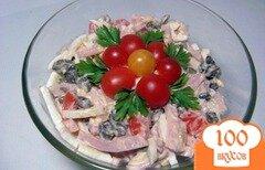 Фото рецепта: «Салат с колбасой и грибами»
