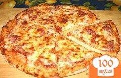 Фото рецепта: «Пицца на сковороде на сметане»