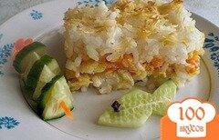 Фото рецепта: «Рыбная запеканка с рисом»