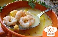 Фото рецепта: «Суп из креветок с грибами»