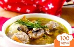 Фото рецепта: «Суп с грибами и фасолью»