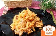 Фото рецепта: «Капуста тушёная со свининой в соусе»