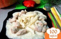 Фото рецепта: «Подлива со свинины с луком и сметаной»