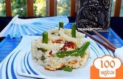 Фото рецепта: «Рис с омлетом и кальмарами»