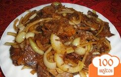 Фото рецепта: «Говядина с маринованным луком»