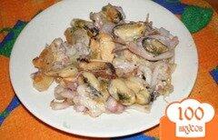 Фото рецепта: «Жареный морской коктейль»