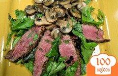 Фото рецепта: «Салат с мясом и грибами»
