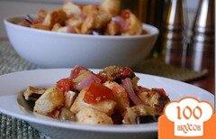 Фото рецепта: «Простой салат из баклажанов»
