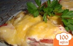 Фото рецепта: «Пицца на сковороде из батона»