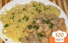 Фото рецепта: «Бефстроганов из языка»