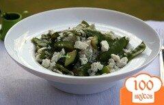 Фото рецепта: «Рис с зелёной фасолью, цуккини и фетой»