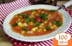 Фото рецепта: «Томатный холодный суп»