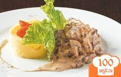 Фото рецепта: «Бефстроганов из оленины»