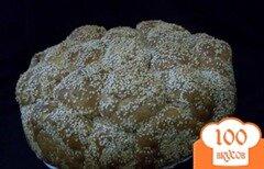 """Фото рецепта: «""""Обезьяний"""" хлеб с сыром и кунжутом»"""