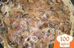 Фото рецепта: «Курица с грибами на сковороде»