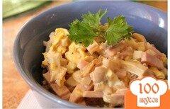 Фото рецепта: «Салат с колбасой простой»