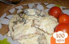 Фото рецепта: «Телятина с грибами в сметане»