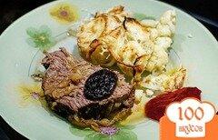 Фото рецепта: «Телятина с черносливом в духовке»