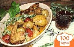 Фото рецепта: «Курица с картошкой на сковороде»