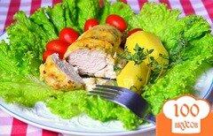 Фото рецепта: «Курица со сливками в духовке»