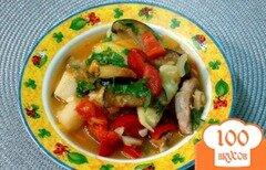 Фото рецепта: «Рагу со свининой и тыквой»