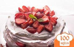 Фото рецепта: «Торт «Павлова» с клубникой»