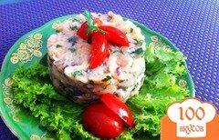 Фото рецепта: «Татртар из лосося с каперсами»