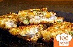 Фото рецепта: «куриные котлеты с кукурузой»