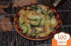 Фото рецепта: «Жареный картофель с цукини»