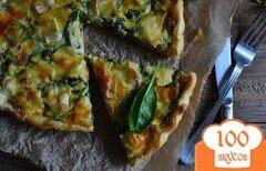 Фото рецепта: «Киш со шпинатом и тремя сортами сыра»