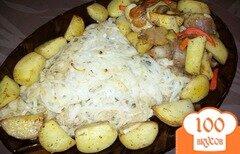 Фото рецепта: «Камбала в духовке со сметаной»