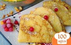 Фото рецепта: «Блинчики с тыквой, апельсиновой цедрой и мятой»