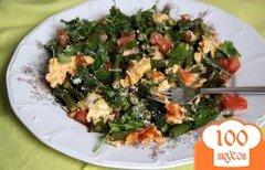 Фото рецепта: «Омлет с зелёной фасолью и томатами»